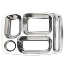 5 Compartments Serving Tray 14.4