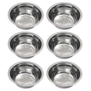 Custom Logo 6 Pack 6.5 Inch Stainless Steel Bowl Set, Nesting Bowls for Meal Prep Baking, Food Dishes