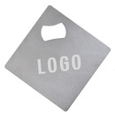 Custom Stainless Steel Beverage Coasters with Build-in Bottle Openers Personalized Drink Coasters