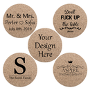 Aspire Custom Coaster for Drinks Absorbent Personalized Cork Coaster with Logo, Text