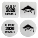 Aspire 4 PCS Stainless Steel Coaster Graduation Cap Class of 2020 Graduation Gift Party Suppliers