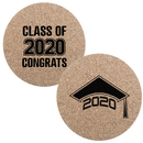 Aspire 10 PCS Personalized Graduation Cork Coasters Class of 2020 Graduation Cap Party Favors Gift