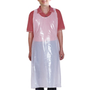 Aspire Blank Disposable Plastic Aprons, 0.75 / 1.5 Mil Anti-oil Protective Barbecue Apron Party Favors