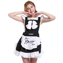 Aspire Blank French Maid Style Cute Aprons Vintage Apron for Women Funny Kitchen Party Accessories
