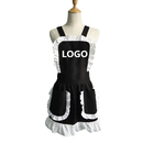 Aspire Custom French Maid Women's Aprons Fancy Ruffles Ladies Apron with Pockets Kitchen Accessories