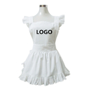 Aspire Personalize White French Style Kitchen Maid Apron Women Cooking Aprons Halloween Party Favor
