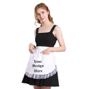 Aspire Blank Waist Apron Maid Costume White Cotton Lace Half Aprons with Two Pockets Party Favors
