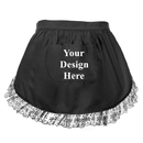 Aspire Customized Lace Half Apron with Pocket for Women Cotton Waist Aprons Perfect for Kitchen Cooking Cosplay