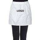 Aspire Custom Half Aprons with Logo Kitchen Cafe Waitress Waist Aprons Cotton Party Maid Costume