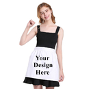 Aspire Blank Half Aprons Kitchen Cafe Waitress Waist Aprons Cotton White Tea Party Maid Costume