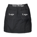 Aspire Personalized Waist Aprons with Two Pockets for Women Working Half Cotton for Cafe Restaurant Party Costume