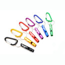 GOGO Custom Aluminum Alloy Safety Whistle with Carabiner Metal Outdoor Camping Whistle