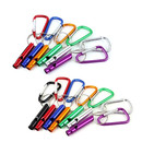 GOGO Blank Aluminum Alloy Safety Whistle with Carabiner Metal Outdoor Camping Whistle