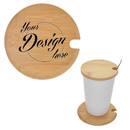 Personalized Bamboo Cup Cover, Wooden Cup Lid, Coffee Mug Lid, Environmental Tea Cup Cover, Drink Cup Lid