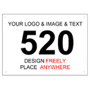 GOGO 100-Piece Custom Tyvek Race Bib Number for Kids, 4 3/4 x 3 1/8 Inch Sequence Competitor Numbers