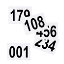 GOGO 100PCS Tyvek Bib Number Full Color Competitor Numbers Race Bib Number, 9.5