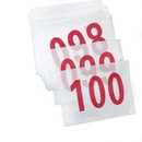 GOGO Race and Event Numbers,100 pcs, Customisable Size