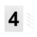 GOGO Standard A4 Tennis Court Number Plates, Price / Set (1-12), Court Numbers