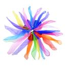 Aspire 36Pcs Chiffon Dancing Juggling Scarves Rhythm Magic Scarves, 10-12 Colors (Gradient)