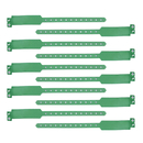 GOGO Vinyl Wristband, Security ID Tri-Layer Wristbands - Green, Party Favors
