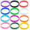 GOGO 12 PCS Adult Silicone Wristbands, Rubber Bracelets, Party Accessories - Red Yellow Green