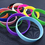GOGO 12 PCS Silicone Wristbands for Kids, Rubber Bracelets, Party Favors - Red Yellow Green