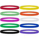 GOGO 100 Pcs Thin Silicone Wristbands for Adults, Rubber Bracelets, Party Favors