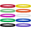 GOGO 100 Pcs Thin Silicone Wristbands for Adults, Rubber Bracelets, Party Favors - Red Yellow Green