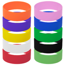 GOGO 10 PCS Wide Silicone Wristbands Rubber Bracelets, Party Favors
