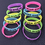 GOGO 10 Pcs Never Give Up Silicone Wristbands, Glow-in-the-dark Rubber Bracelets, Party Rubber Bands