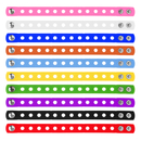 GOGO 10 Pcs Kids' Rubber Bracelet, Adjustable Wristband for Fit Shoe Jibbitz Crocs Charms