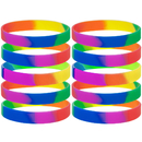 GOGO Rainbow Pride Wristbands Silicone Bracelets Rubber Bands Party Accessories