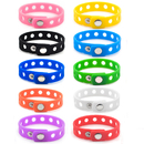 GOGO Adjustable Silicone Wristband Bracelet For Fit Shoe Charms Adult & Kid Wholesale for Party Gift
