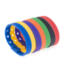 GOGO Pack of 10 Adjustable Silicone Bracelets Fit for Adults and Kids Rubber Bands Party Wristbands