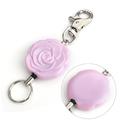 GOGO Rose Flower Cute Badge Reels With Key Rings Loop Clasp