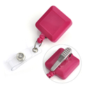 GOGO Square Retractable ID Name Badge Holder Reels With Spring Clip