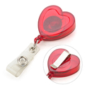 GOGO Heart Shape Badge Reel With Slide Clip