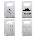 Customized Credit Card Bottle Openers Stainless Steel Gifts for Wedding Bachelor Party Bridal Shower