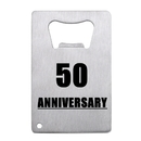 Anniversary Personalized Credit Card Bottle Openers Stainless Steel for Wedding Party Celebration