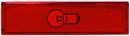 Alpha Communications Red Plastic Cap/S-10520 Button