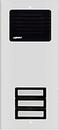 Alpha Communications 3 Plast Button L/S Panel-Alum.