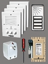 Alpha Communications 4- Unit Apt. Intercom Kit+Wire