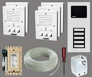 Alpha Communications 5- Unit Apt. Intercom Kit+Wire