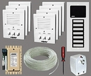 Alpha Communications 7- Unit Apt. Intercom Kit+Wire