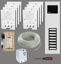 Alpha Communications 8- Unit Apt. Intercom Kit+Wire