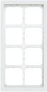 Alpha Communications 4Hx2W Module Panel Frame-White