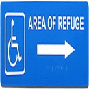 Alpha Communications RSN7047R Refuge Arrow Sign--Right--Blue