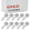 GOGO Metal ID Badge Holder Keychain with Belt Clip Key Ring for ID Card
