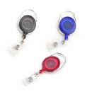 GOGO 50PCS Badge Reel Carabiner Retracting Clip for Nursing Security