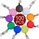 GOGO 100PCS Translucent ID Card Badge Holder Reels Wholesale Best Office Supplier